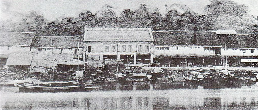 Kuching Old Bazaar in 1864.