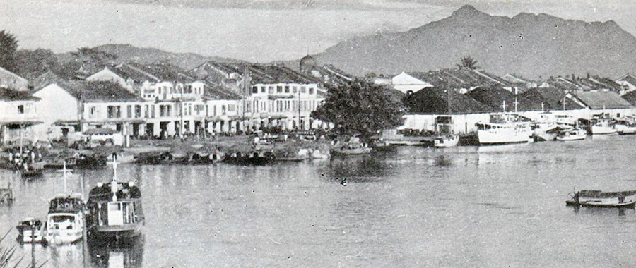 Kuching Old Bazaar in 1952