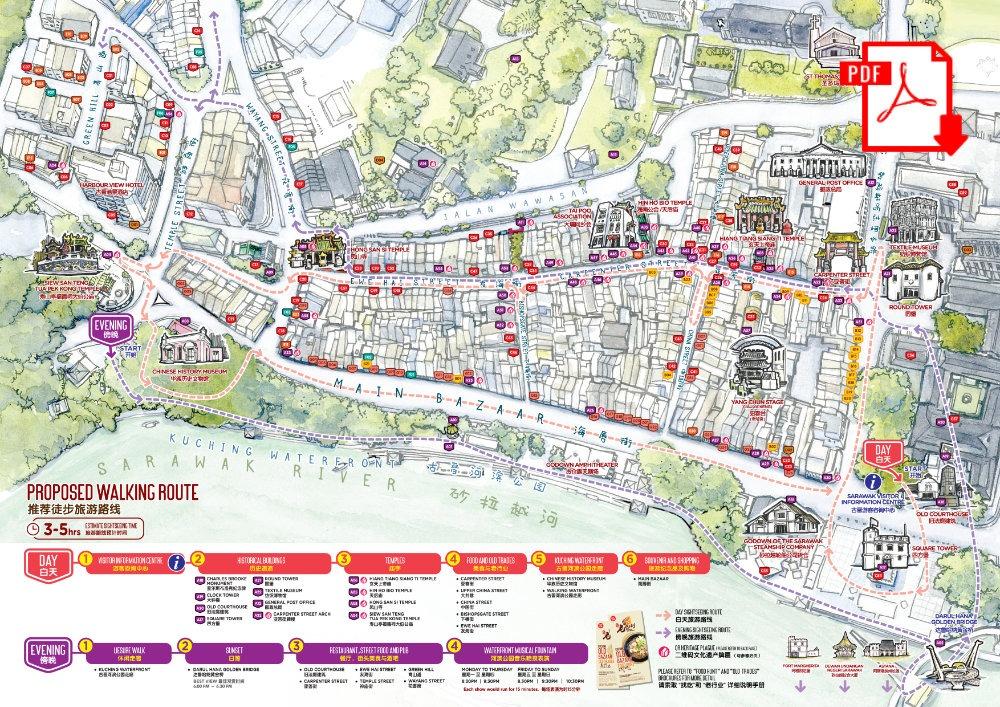 Kuching Tourism Map