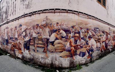 Mural Art – The Big Well and the Coolie Keng